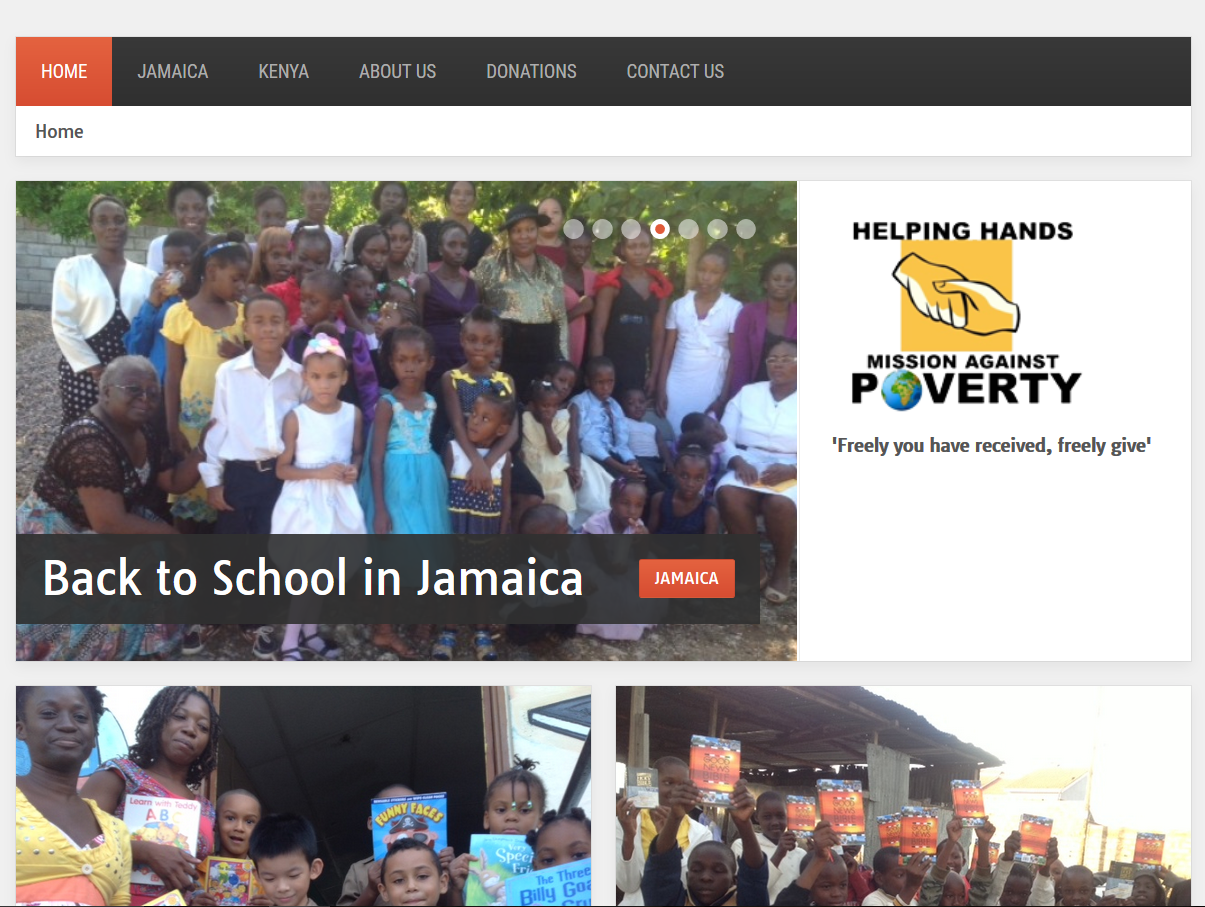 HHMAP Charity website